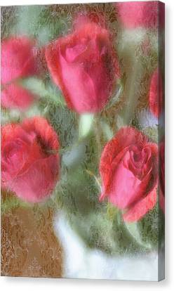 Canvas Print featuring the photograph Vintage Rose Bouquet by Diane Alexander