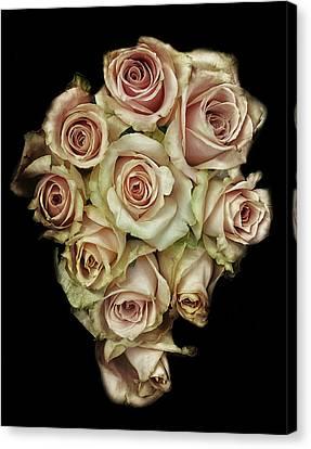 Wedding Bouquet Canvas Print - Vintage Rose by Martin Newman