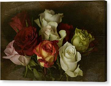 Canvas Print featuring the photograph Vintage Roses Feb 2017 by Richard Cummings