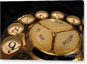 Vintage Rotary Dial Phone Canvas Print by Yali Shi