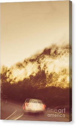 Vintage Rural Car Chase Canvas Print by Jorgo Photography - Wall Art Gallery