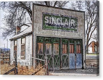 Vintage Rural Gas Station - Elberta Utah Canvas Print by Gary Whitton