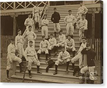 Vintage Saint Louis Baseball Team Photo Canvas Print by American School