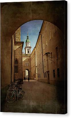 Archway Canvas Print - Vintage Salzburg by Carol Japp