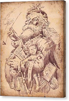 Vintage Santa Canvas Print by Robbi  Musser
