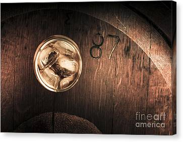 Blend Canvas Print - Vintage Scotch Whisky On Wooden Tabletop by Jorgo Photography - Wall Art Gallery