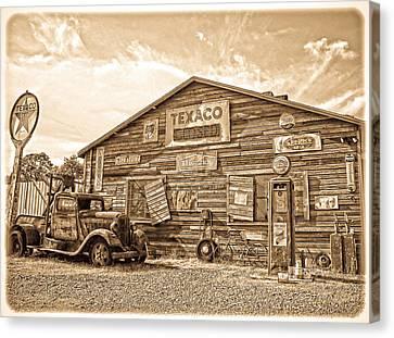 Vintage Service Station Canvas Print