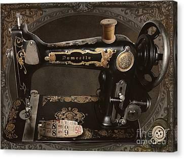 Vintage Sewing Machine Canvas Print