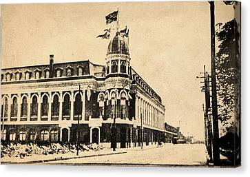 Vintage Shibe Park In Sepia Canvas Print by Bill Cannon