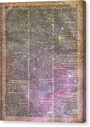 Vintage Space Dictionary Book Page Canvas Print by Jacob Kuch