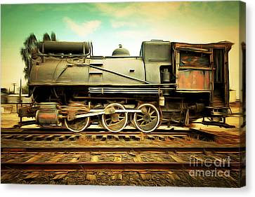 Vintage Steam Locomotive 5d28362brun Canvas Print