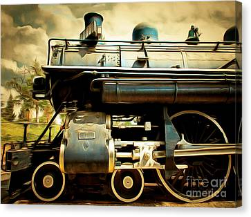 Vintage Steam Locomotive 5d29112brun Canvas Print