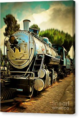 Vintage Steam Locomotive 5d29138brun Canvas Print