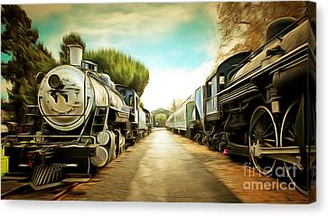 Vintage Steam Locomotive 5d29143brun Canvas Print