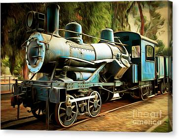 Vintage Steam Locomotive 5d29168brun Canvas Print