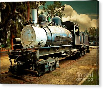 Vintage Steam Locomotive 5d29172brun Canvas Print