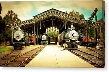 Vintage Steam Locomotive 5d29186brun Canvas Print