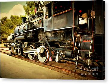 Vintage Steam Locomotive 5d29222brun Canvas Print