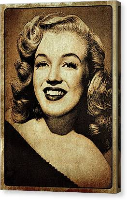 Vintage Style Marilyn Monroe Canvas Print by Esoterica Art Agency