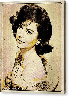 Vintage Style Natalie Wood Canvas Print by Esoterica Art Agency