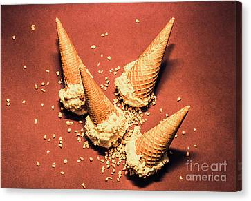 Vintage Summer Ice Cream Spill Canvas Print by Jorgo Photography - Wall Art Gallery