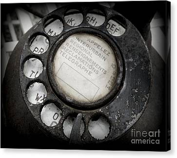 Canvas Print featuring the photograph Vintage Telephone by Lainie Wrightson