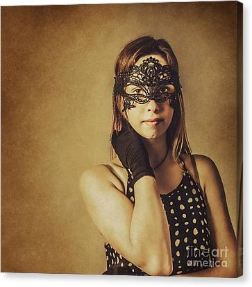 Showgirl Canvas Print - Vintage Theatre Show Girl  by Jorgo Photography - Wall Art Gallery