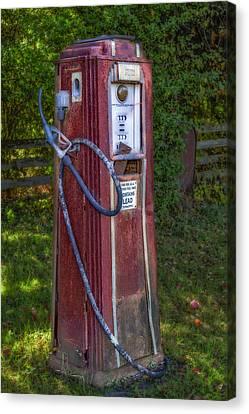 Vintage Tokheim Gas Pump Canvas Print by Susan Candelario