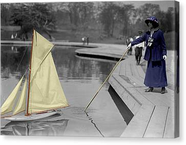 Vintage Toy Sailboat Canvas Print by Andrew Fare