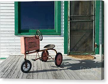 Vintage Toy Tractor Canvas Print by Catherine Sherman