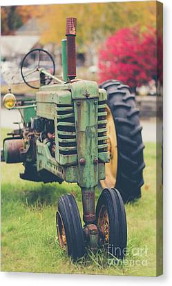 Vintage Tractor Autumn Canvas Print by Edward Fielding