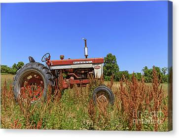 Vintage Tractor Finger Lakes Canvas Print by Edward Fielding