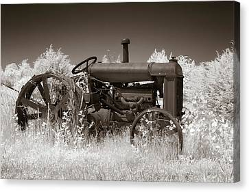 Canvas Print - Vintage Tractor In Sepia by James Barber