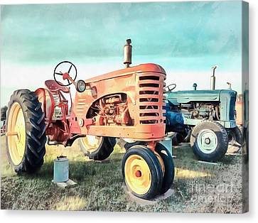 Vintage Tractors Acrylic Canvas Print by Edward Fielding