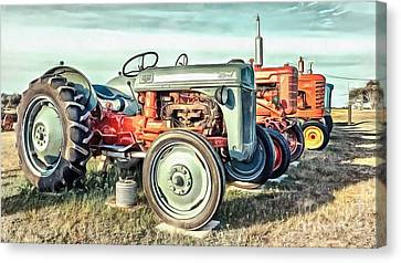 Vintage Tractors Ford  Canvas Print by Edward Fielding