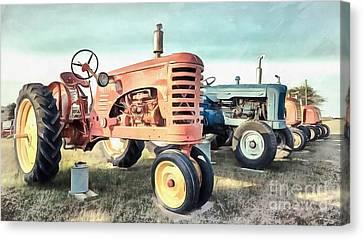 Vintage Tractors New Glasgow Pei Canvas Print by Edward Fielding