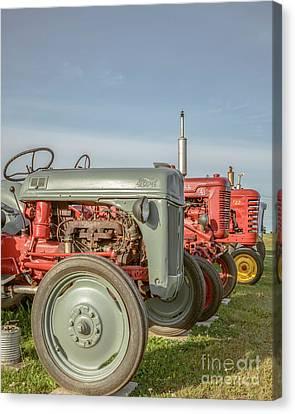 Vintage Tractors Prince Edward Island Canvas Print by Edward Fielding