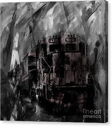 Vintage Train 07 Canvas Print by Gull G