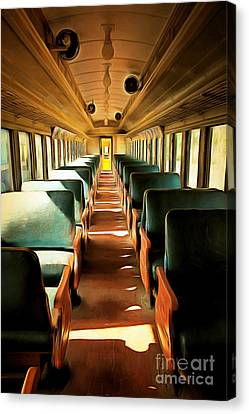 Vintage Train Passenger Car 5d28307brun Canvas Print