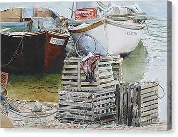 Vintage Traps Canvas Print by Karol Wyckoff