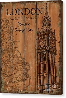 Vintage Travel London Canvas Print by Debbie DeWitt