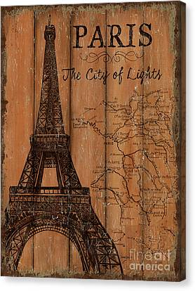 Vintage Travel Paris Canvas Print