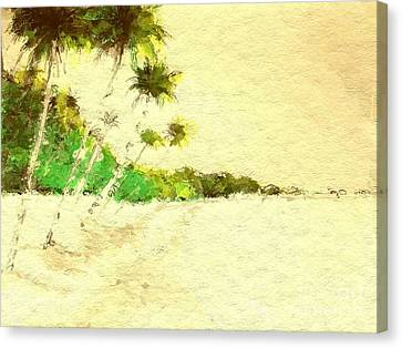 Vintage Tropical Beach Canvas Print
