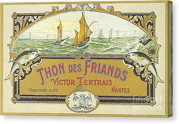 Vintage Tuna Can Label Canvas Print by Edward Fielding