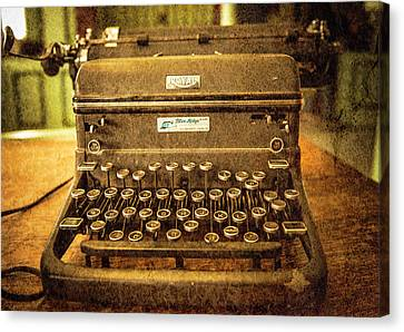 Vintage Typewriter Canvas Print by Cynthia Wolfe