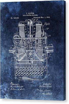 Remington Canvas Print - Vintage Typewriter Patent by Dan Sproul