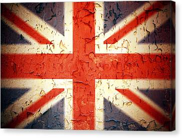 Peeling Canvas Print - Vintage Union Jack by Jane Rix