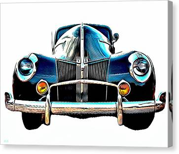 American Car Canvas Print - Vintage V8 Ford by Little Bunny Sunshine