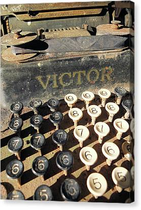 Canvas Print featuring the photograph Vintage Victor by Scott Kingery