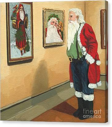 Vintage Victorian - Museum Santa Canvas Print by Linda Apple